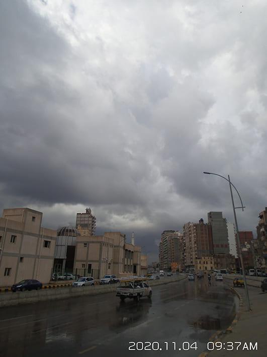 ملخص منخفض 4 نوفمبر 2020 على مدينة الاسكندرية