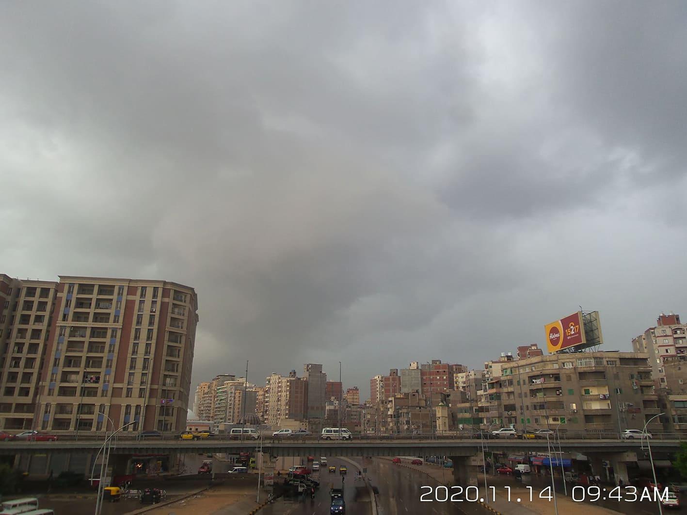 ملخص منخفض 14 نوفمبر 2020 على مدينة الاسكندرية