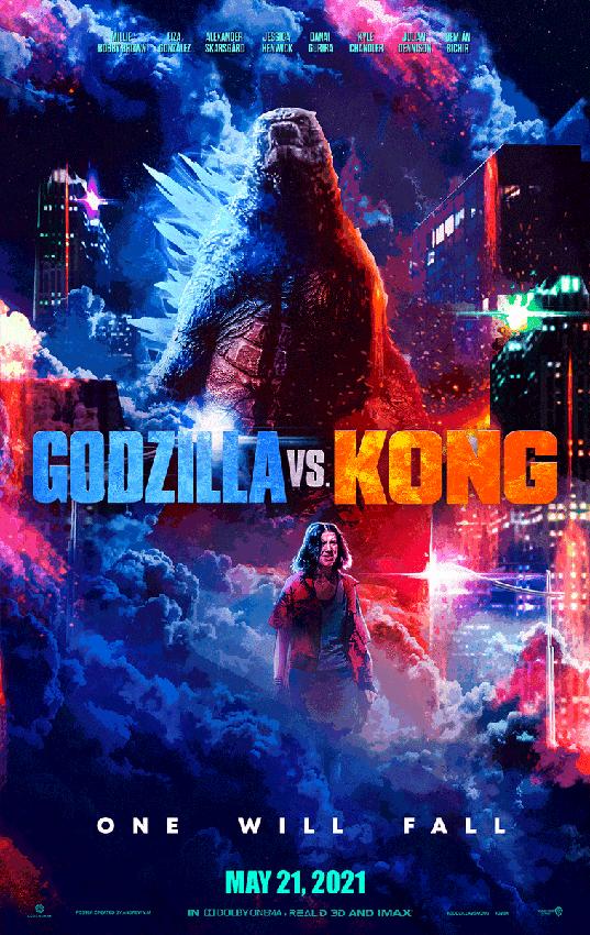 بوستر فيلم Godzilla vs Kong 2021 وابطاله