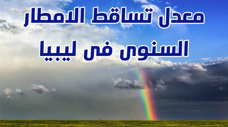 معدل تساقط الامطار السنوى فى ليبيا